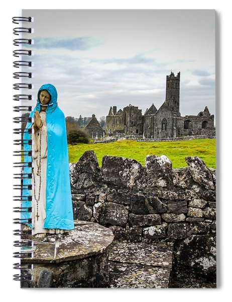 Official Greeter At Ireland's Quin Abbey National Monument Spiral Notebook