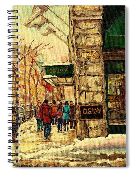 Ogilvys Department Store Downtown Montreal Spiral Notebook
