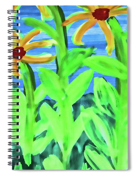 Oh Glorious Day Floral Spiral Notebook