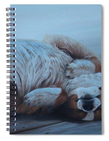 Dog Gone Tired Spiral Notebook