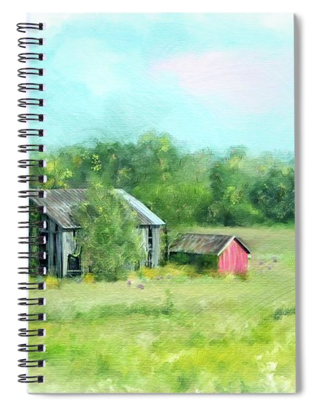 Ohio Rustic Barns Spiral Notebook