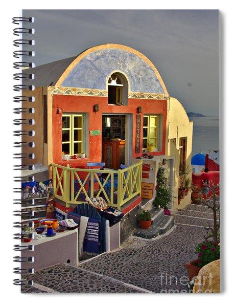 Oia Pub Spiral Notebook