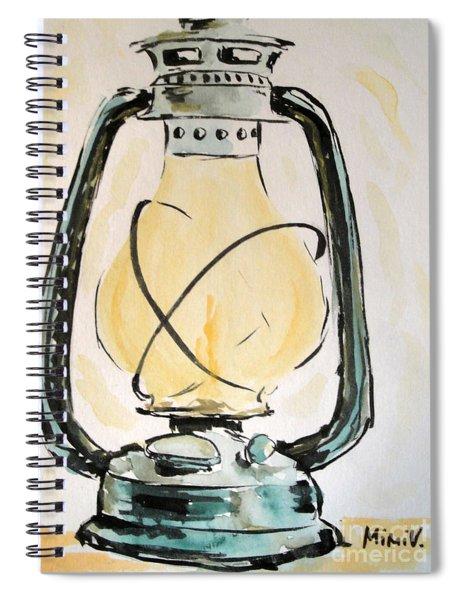 Oil Lamp Spiral Notebook