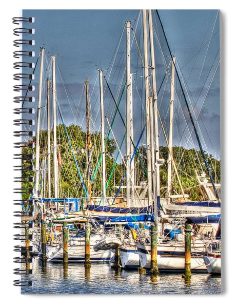Oil Painting Marina Spiral Notebook