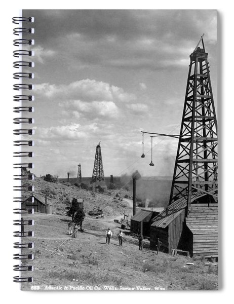 Oil Well, Wyoming, C1910 Spiral Notebook