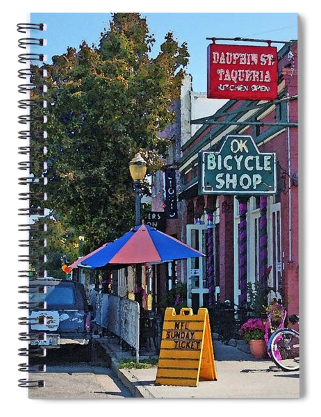 Ok Bicycle Yellow Sign Spiral Notebook