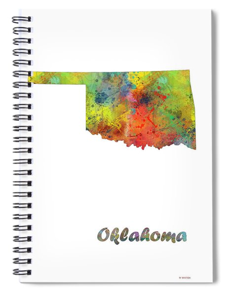 Oklahoma State Map Spiral Notebook