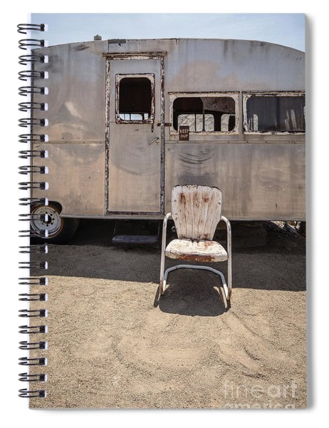 Old 1930 Silver Camping Trailer Spiral Notebook