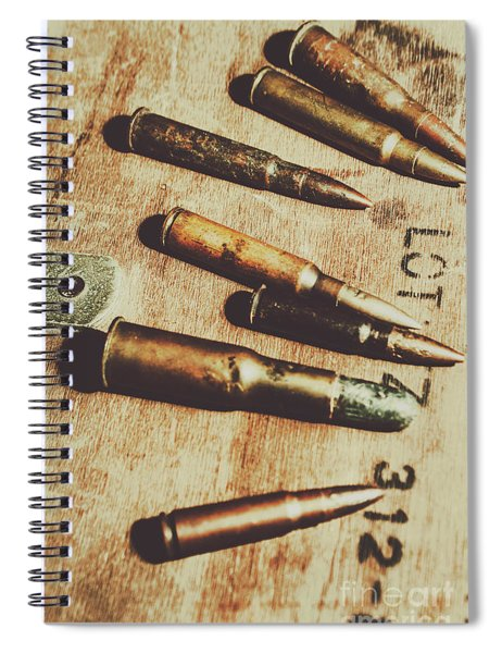 Old Ammunition Spiral Notebook