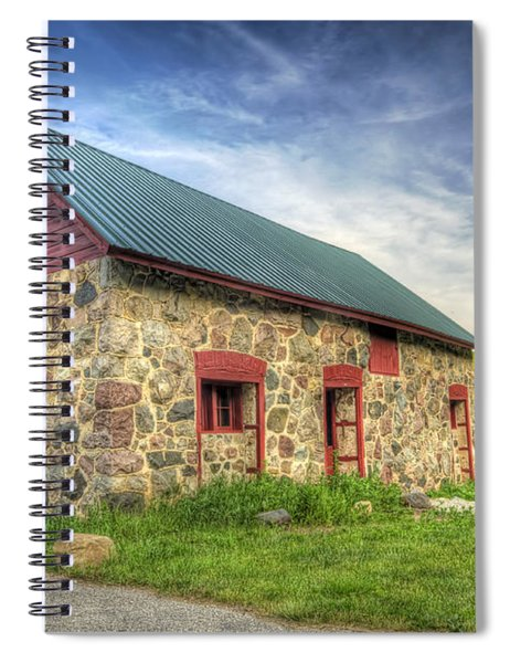 Old Barn At Dusk Spiral Notebook
