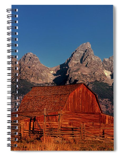 Old Barn Grand Tetons National Park Wyoming Spiral Notebook by Dave Welling