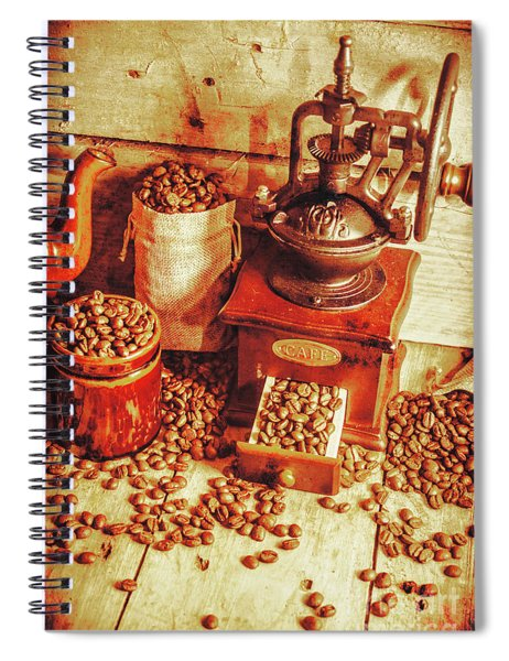 Old Bean Mill Decor. Kitchen Art Spiral Notebook