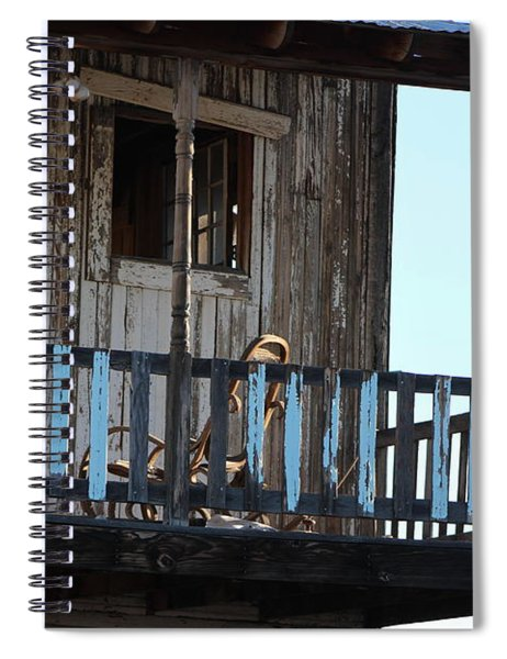 Old Blue Balcony Spiral Notebook