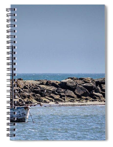 Old Boat - Half Moon Bay Spiral Notebook