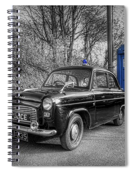 Old British Police Car And Tardis Spiral Notebook