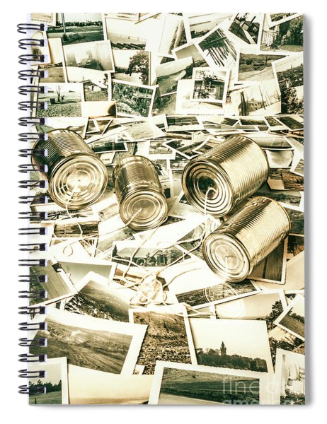 Old Business Wires Spiral Notebook