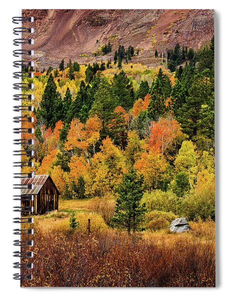 Old Cabin In Hope Valley Spiral Notebook