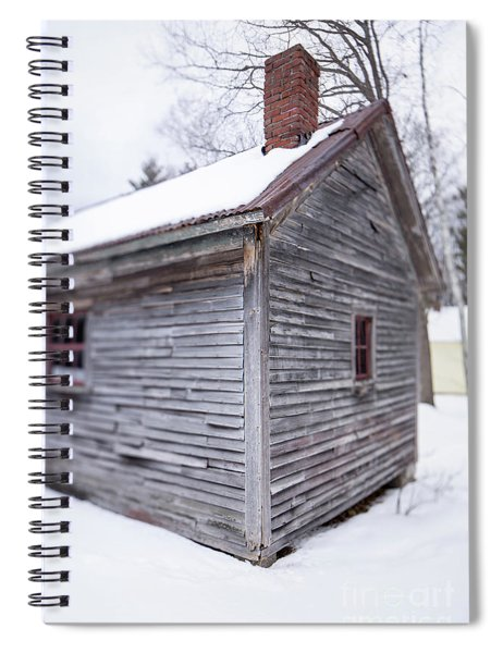 Old Cabin In The Snow Musterfield Farm North Sutton Spiral Notebook