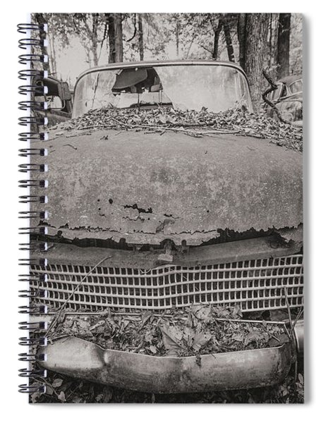 Old Car City In Black And White Spiral Notebook