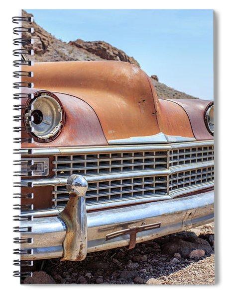 Old Cars In The Desert, Eldorado Canyon, Nevada Spiral Notebook by Edward Fielding