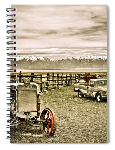 Old Case Tractor Spiral Notebook