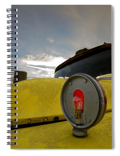 Old Chevy Truck With Grain Elevators In The Background Spiral Notebook