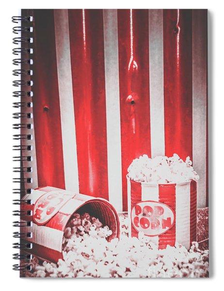 Old Cinema Pop Corn Spiral Notebook