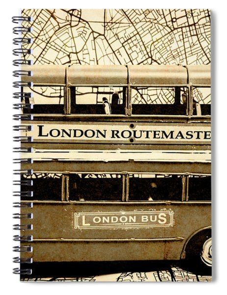 Old City Bus Tour Spiral Notebook