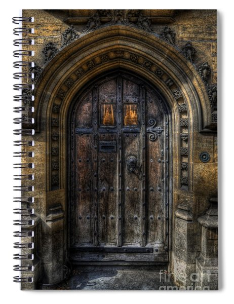 Old College Door - Oxford Spiral Notebook