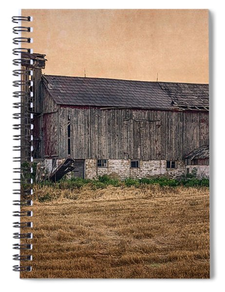 Spiral Notebook featuring the photograph Old Country Barn by Garvin Hunter