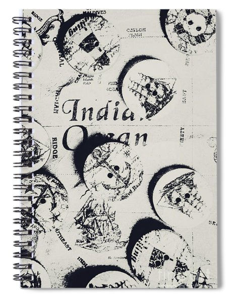 Old East India Trading Routes Spiral Notebook