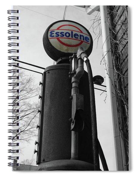 Old Essolene Pump Spiral Notebook