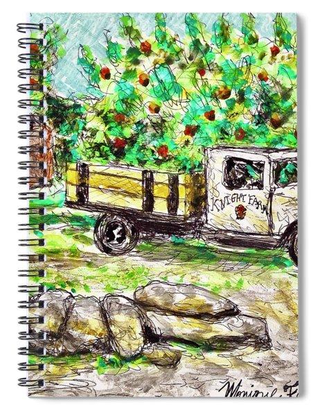 Old Farming Truck Spiral Notebook