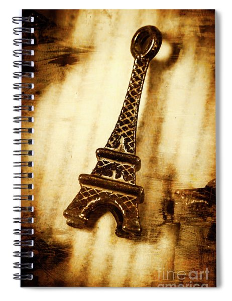 Old Fashion Eiffel Tower Souvenir Spiral Notebook