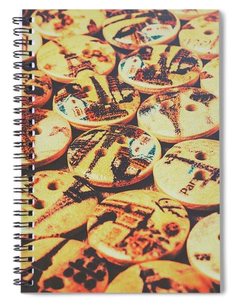 Old Fashion Landmark Buttons Spiral Notebook