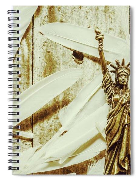Old-fashioned Statue Of Liberty Monument Spiral Notebook