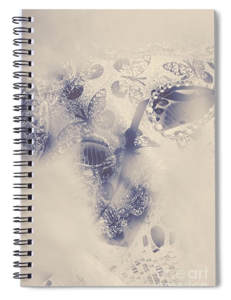 Old-fashioned Venice Mask Spiral Notebook