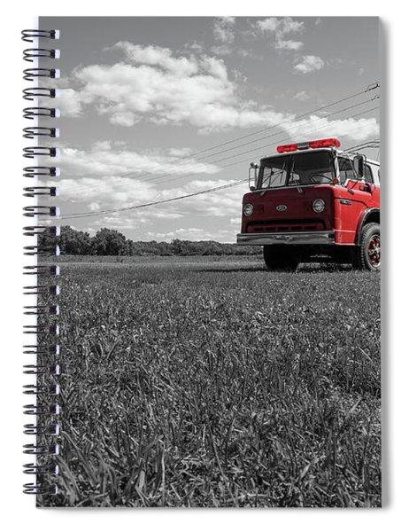Old Fire Engine Deerfield Ma Spiral Notebook