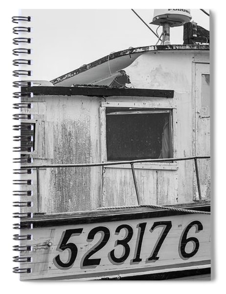 Old Fishing Boat  Spiral Notebook