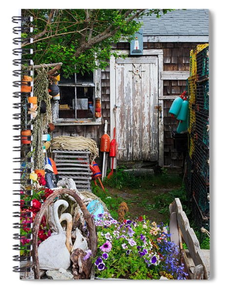 Old Fishing  House 2 Spiral Notebook