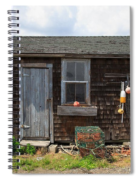 Old Fishing  Houses  Spiral Notebook