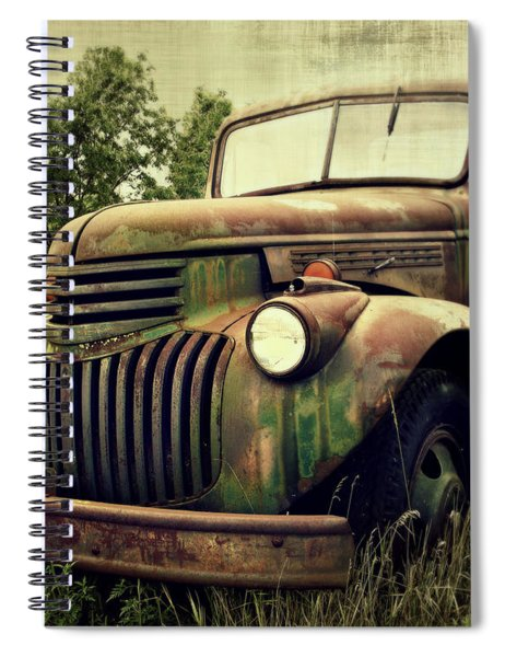 Old Flatbed Spiral Notebook