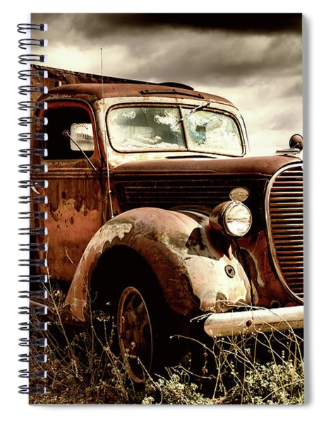 Old Ford Truck In Desert Spiral Notebook