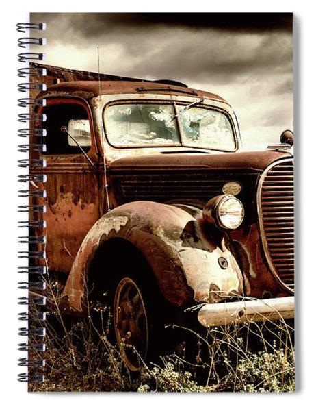 Old Ford Truck In Desert Spiral Notebook