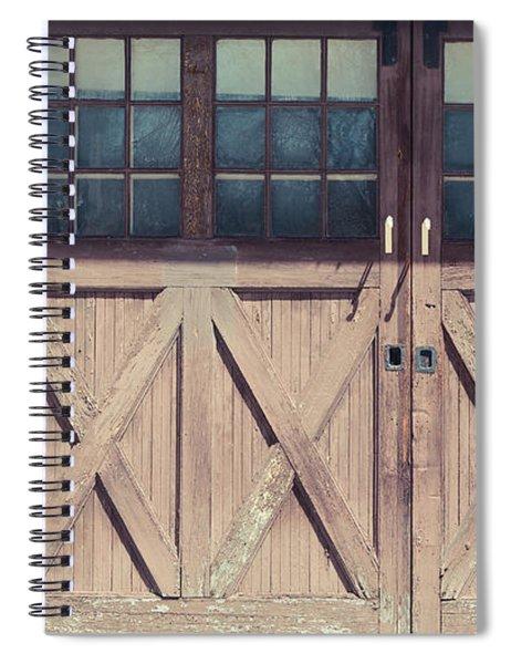 Old Garage Doors Portsmouth Nh Spiral Notebook
