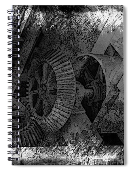 Old Gear Spiral Notebook
