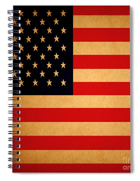 Old Glory . Square Spiral Notebook