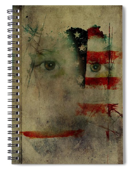 Old Glory Spiral Notebook