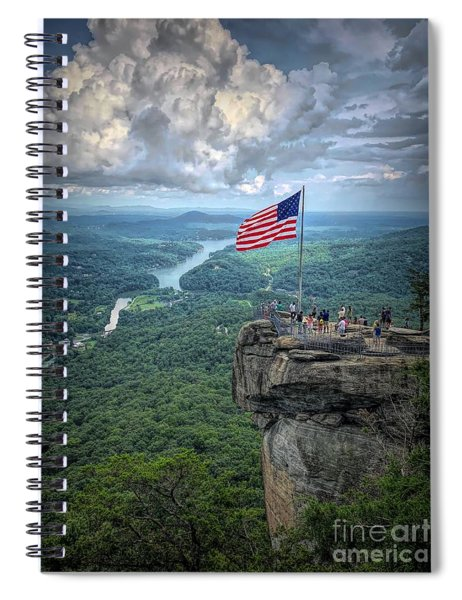 Old Glory On The Rock Spiral Notebook
