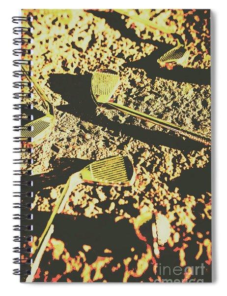 Old Golfing Games Spiral Notebook
